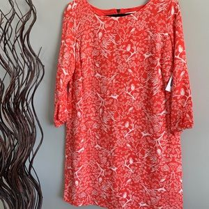 NWT Old Navy Deep Coral & Ivory  Shift Dress M